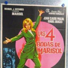 Cine: LAS CUATRO 4 BODAS DE MARISOL - AÑO 1967. Lote 140158690