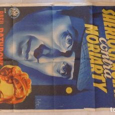 Cine: SHERLOCK HOLMES CONTRA MORIARTY. CARTEL ORIGINAL 1939. SÓLIGO. 70X100.(THE ADVENTURES OF SHERLOCK). Lote 140188358