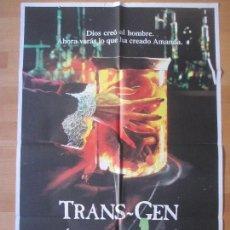 Cine: CARTEL CINE, TRANS-GEN, LOS GENES DE LA MUERTE, DAVID ALLEN BROOKS, AMANDA PAYS, C733. Lote 140193190