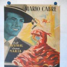 Cine: ORO Y MARFIL - CARTEL LITOGRAFICO ORIGINAL - 70 X 100. Lote 140214862