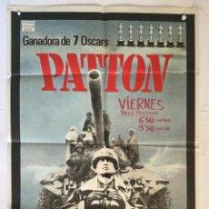 Cine: PATTON - CARTEL POSTER ORIGINAL - GEORGE C SCOTT KARL MALDEN F J SCHAFFNER 2ª GUERRA MUNDIAL. Lote 140249026