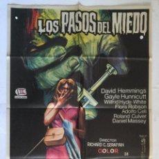 Cine: LOS PASOS DEL MIEDO - CARTEL POSTER ORIGINAL DAVID HEMMINGS GAYLE HUNNICUTT RICHARD G SERAFIAN JANO. Lote 140252442