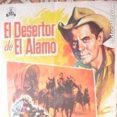 Cine: POSTER CARTEL CINE EL DESERTOR DEL ALAMO. Lote 140290642