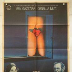 Cine: ORDINARIA LOCURA - CARTEL POSTER ORIGINAL - ORNELLA MUTI BEN GAZZARA MARCO FERRERI CHARLES BUKOWSKI. Lote 140301134