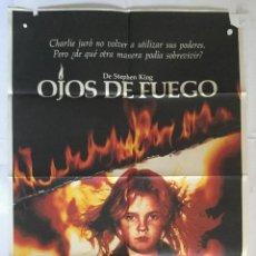 Cine: OJOS DE FUEGO - CARTEL POSTER ORIGINAL - DREW BARRYMORE STEPHNE KING FIRESTARTER DAVID KEITH. Lote 140304082