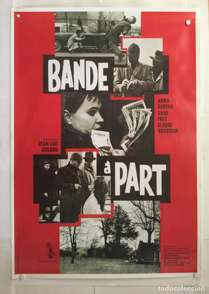 BANDE A PART - CARTEL POSTER CINE - JEAN LUC GODARD ANNA KARINA SAMI FREY NOUVELLE VAGUE (Cine- Posters y Carteles - Drama)