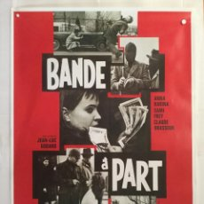 Cine: BANDE A PART - CARTEL POSTER CINE - JEAN LUC GODARD ANNA KARINA SAMI FREY NOUVELLE VAGUE. Lote 189357311