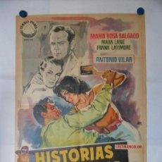 Cine: HISTORIAS DE LA FERIA - CARTEL LITOGRAFICO ORIGINAL 70 X 100. Lote 140353402