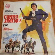 Cine: CARTEL DE CINE CURRO JIMENEZ. AGATA LYS EN AVISA A CURRO JIMENEZ. RAFAEL R. MARCHENT. 1978.. Lote 140645798