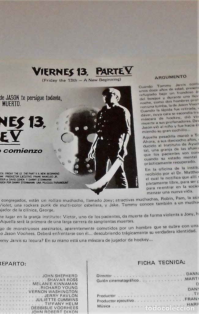 Cine: PÓSTER CARTEL VIERNES 13 V - Foto 2 - 140653010