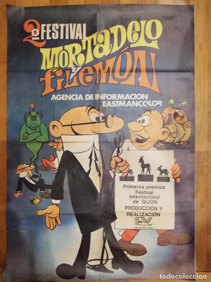 CARTEL DE CINE 2ºFESTIVAL MORTADELO Y FILEMON. GIJON. (Cine - Posters y Carteles - Infantil)