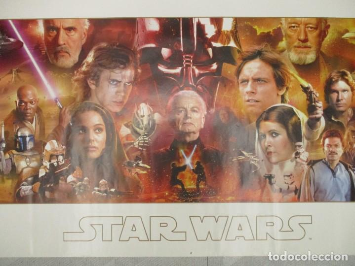 Cine: CARTEL TRILOGIAS STAR WARS - GUERRA DE LAS GALAXIAS AÑO 2008 - GB EYE -MEDIAS 160 X 53 -RARISIMO - Foto 2 - 140757578