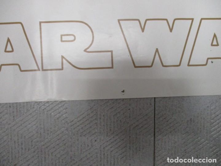 Cine: CARTEL TRILOGIAS STAR WARS - GUERRA DE LAS GALAXIAS AÑO 2008 - GB EYE -MEDIAS 160 X 53 -RARISIMO - Foto 8 - 140757578