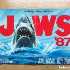 Cine: TIBURON CARTEL 55X33 CM.JAWS 87. CARTEL DE LA PELICULA.. Lote 140894594