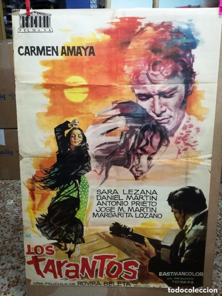 LOS TARANTOS 1963 ORIGINAL CARMEN AMAYA ; ROVIRA BELETA 100X70 ESTRENO DISEÑO JANO (Cine - Posters y Carteles - Clasico Español)