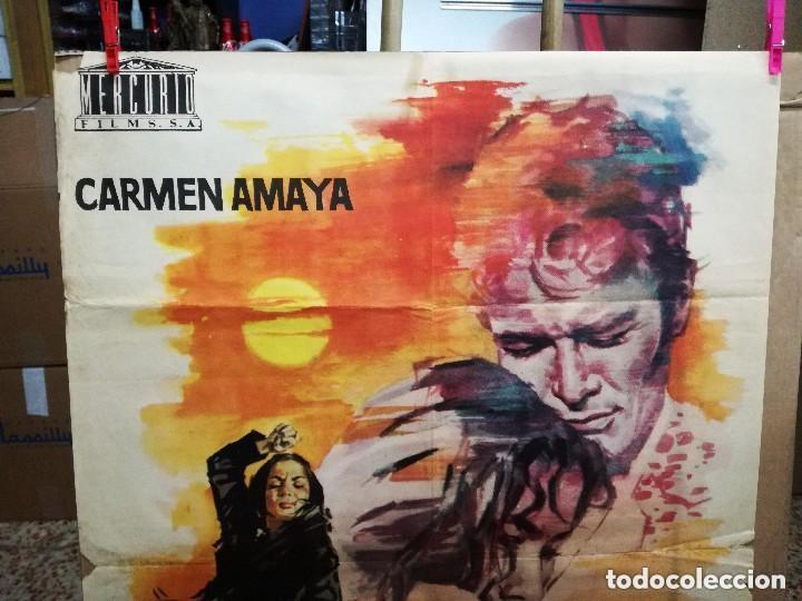 Cine: LOS TARANTOS 1963 ORIGINAL CARMEN AMAYA ; ROVIRA BELETA 100X70 ESTRENO DISEÑO JANO - Foto 6 - 173962990