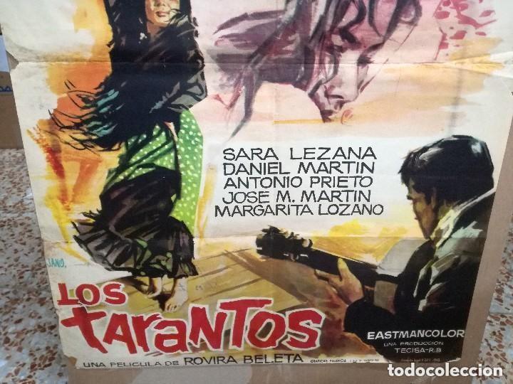 Cine: LOS TARANTOS 1963 ORIGINAL CARMEN AMAYA ; ROVIRA BELETA 100X70 ESTRENO DISEÑO JANO - Foto 7 - 173962990