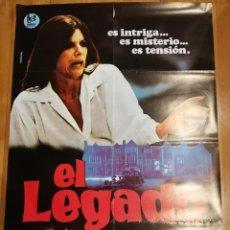 Cine: CARTEL DE CINE EL LEGADO. KATHARINE ROSS, SAM ELLIOTT, ROGER DALTREY. AÑOS 70.. Lote 140936350