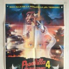 Cine: PESADILLA EN ELM STREET 4 IV - POSTER CARTEL ORIGINAL A NIGHTMARE ON ELM STREET 4: THE DREAM MASTER. Lote 141293438