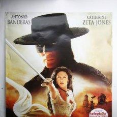 Cine: CARTEL / POSTER DE CINE - LA LEYENDA DEL ZORRO / ANTONIO BANDERAS, CATHERINE ZETA-JONES - SONY 2005. Lote 141295462