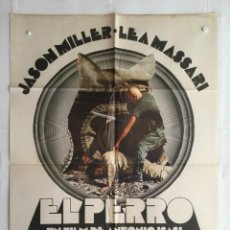 Cine: EL PERRO - POSTER CARTEL ORIGINAL - ISASI ISASMENDI JASON MILLER LEA MASSARI VAZQUEZ FIGUEROA. Lote 141305498