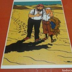 Cine: FOTO - CARTEL DEL CAPITAN HADDOCK Y TINTIN. TAMAÑO 45 CM X 32 CM. Lote 141751473