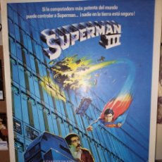 Cine: SUPERMAN III CHRISTOPHER REEVE POSTER ORIGINAL 70X100 SIN DOBLAR. Lote 141907798