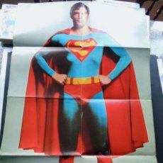 Cine: SUPERMAN - THE MOVIE / POSTER GIGANTE ( 86 X 56 CM. ) ADEMAS 7 SECUENCIAS DE LA PELICULA / AÑO 1979. Lote 142046442