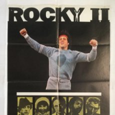 Cine: ROCKY 2 II - POSTER CARTEL ORIGINAL - SYLVESTER STALLONE TALIA SHIRE BURT YOUNG BOXEO. Lote 142513182