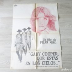 Cine: CARTEL GARY COOPER QUE ESTÁS EN LOS CIELOS - POSTER ORIGINAL 70 X100 APROX. Lote 142517406