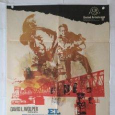 Cine: EL PUENTE DE REMAGEN - POSTER CARTEL ORIGINAL - GEORGE SEGAL ROBERT VAUGHN 2ª GUERRA MUNDIAL. Lote 142645574