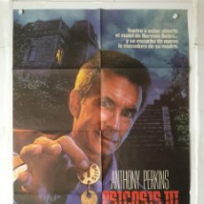 Cine: PSICOSIS 3 PSYCHO III - POSTER CARTEL ORIGINAL - ANTHONY PERKINS DIANA SCARWID. Lote 142645978