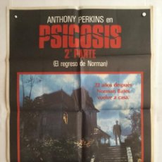 Cine: PSICOSIS 2 PSYCHO II - POSTER CARTEL ORIGINAL - ANTHONY PERKINS VERA MILES MEG TILLY. Lote 142646294