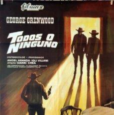 Cine: TODOS O NINGUNO. GIANNI CREA.CARTEL ORIGINAL 1971. 70X100 . Lote 142871298