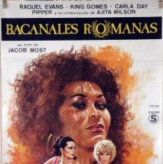 Cine: BACANALES ROMANAS. CARTEL ORIGINAL. 70X100. Lote 142871902