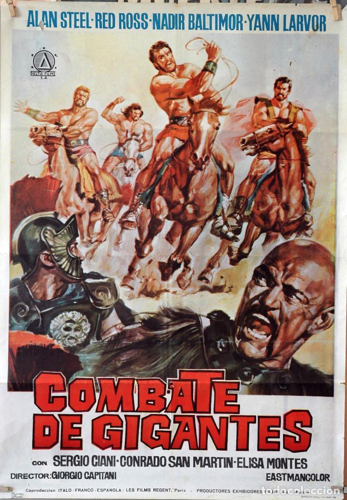 COMBATE DE GIGANTES. GIORGIO CAPITANI. CARTEL ORIGINAL AÑOS 60. 70X100 (Cine - Posters y Carteles - Bélicas)