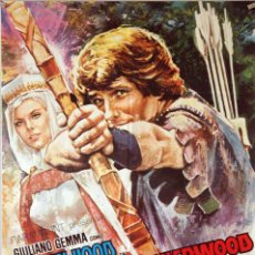 Cine: EL ARQUERO DE SHERWOOD. CARTEL ORIGINAL 1971. 70X100. Lote 143032414