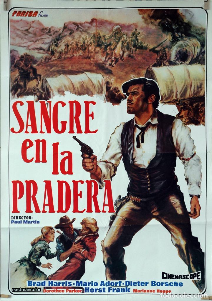 SANGRE EN LA PRADERA. CARTEL ORIGINAL 70X100 (Cine - Posters y Carteles - Westerns)