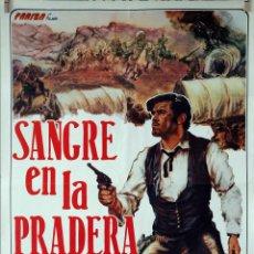 Cine: SANGRE EN LA PRADERA. CARTEL ORIGINAL 70X100. Lote 143032754