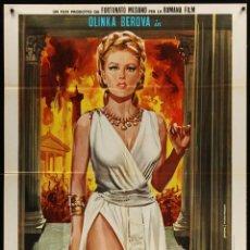 Cine: LAS CALIDAS NOCHES DE POPEA - 1969 - OLINKA BEROVA . BRAD HARRIS - 99X140 POSTER ORIGINAL ITALIANO. Lote 143103634
