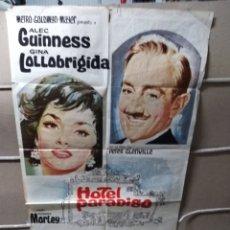 Cine: HOTEL PARADISO GINA LOLLOBRIGIDA ALEC GUINNESS POSTER ORIGINAL 70X100 YY (1944). Lote 143161833