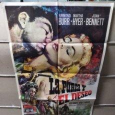 Cine: LA FURIA Y EL DESEO POSTER ORIGINAL 70X100 YY (1948). Lote 143163538