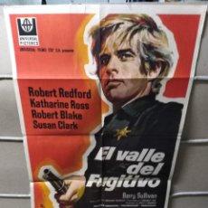 Cine: EL VALLE DEL FUGITIVO ROBERT REDFORD POSTER ORIGINAL 70X100 YY (1949). Lote 143163742