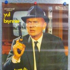 Cine: LA HUELLA CONDUCE A LONDRES. YUL BRYNNER. AÑO 1969. Lote 143164566