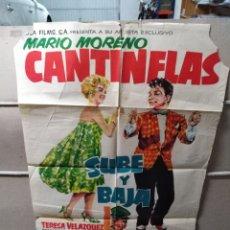 Cine: SUBE Y BAJA CANTINFLAS POSTER ORIGINAL 70X100 YY (1963)ESTRENO. Lote 143179442