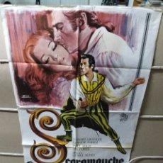 Cine: SCARAMOUCHE STEWART GRANGER JANET LEIGH POSTER ORIGINAL 70X100 YY (1969). Lote 143181997