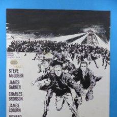 Cine: LA GRAN EVASION, STEVE MCQUEEN, CHARLES BRONSON - ORIGINAL PINTADO A MANO POR MONTALBAN - AÑOS 1970. Lote 143187450