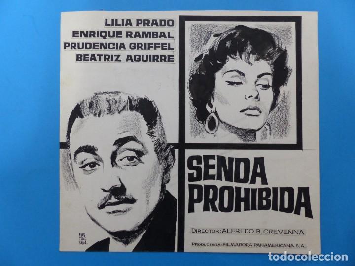 SENDA PROHIBIDA, LILIA PRADO, ENRIQUE RAMBAL - ORIGINAL PINTADO A MANO POR MONTALBAN - AÑOS 1970 (Cine- Posters y Carteles - Drama)