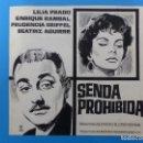 Cine: SENDA PROHIBIDA, LILIA PRADO, ENRIQUE RAMBAL - ORIGINAL PINTADO A MANO POR MONTALBAN - AÑOS 1970. Lote 143191906