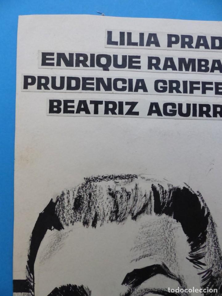 Cine: SENDA PROHIBIDA, LILIA PRADO, ENRIQUE RAMBAL - ORIGINAL PINTADO A MANO POR MONTALBAN - AÑOS 1970 - Foto 3 - 143191906